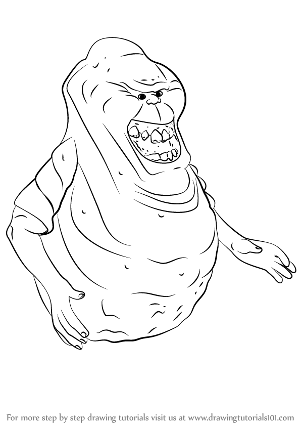 Learn How To Draw Slimer From Ghostbusters Ghostbusters Step By Step Drawing Tutorials