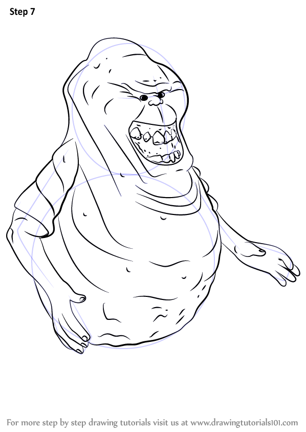 Learn How to Draw Slimer from Ghostbusters Ghostbusters