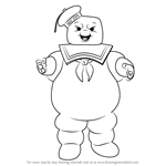 How to Draw Stay Puft Marshmallow Man from Ghostbusters