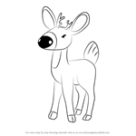 How to Draw Fawn from Gnomeo & Juliet