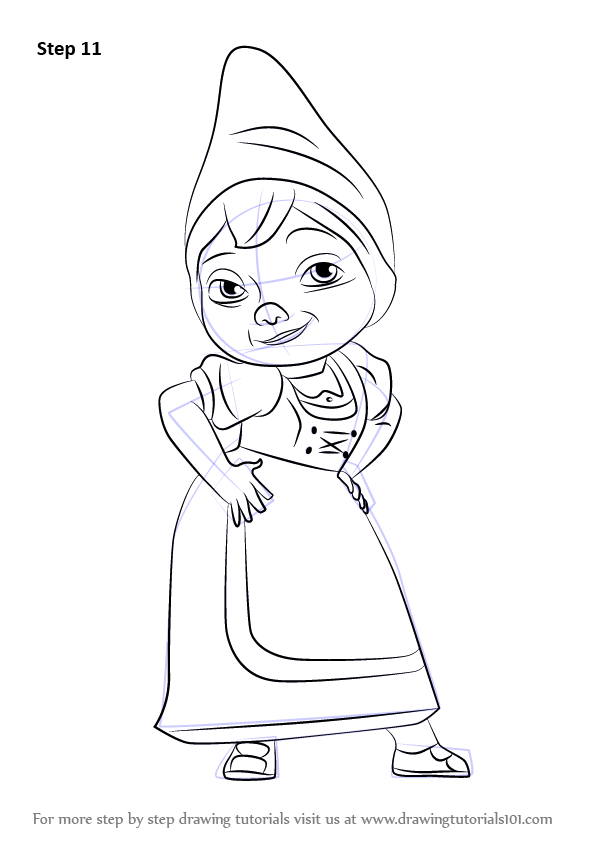 Learn How To Draw Juliet From Gnomeo Amp Juliet Gnomeo