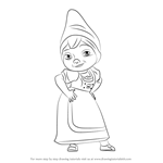 How to Draw Juliet from Gnomeo & Juliet