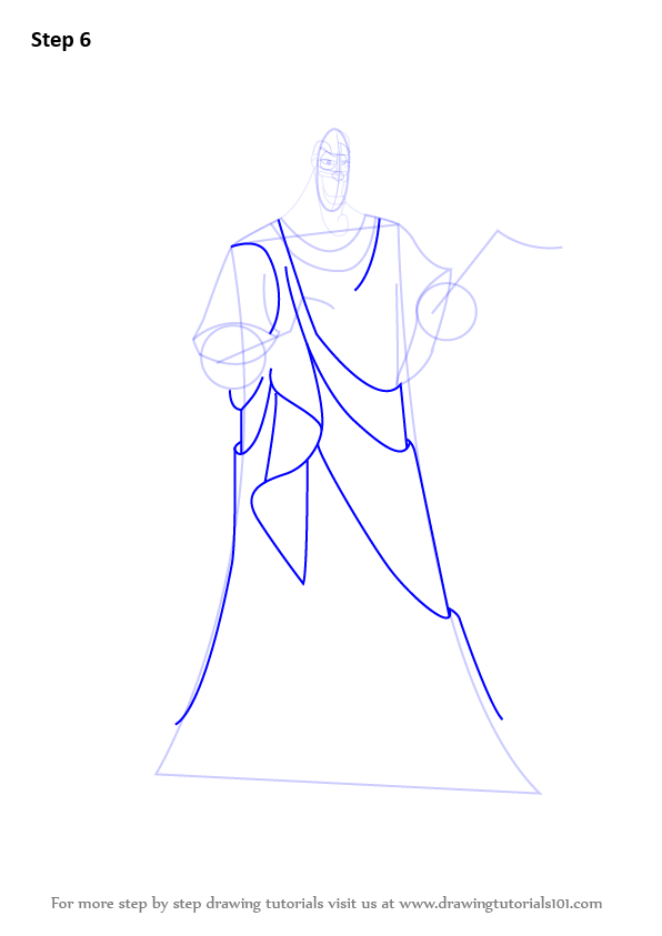 Learn How to Draw Hades from Hercules (Hercules) Step by ...