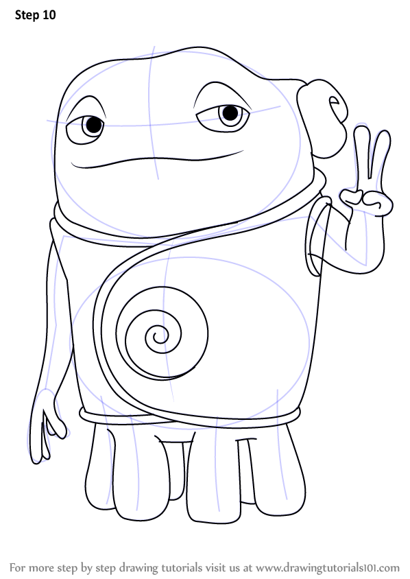 Learn How to Draw Oh from Home (Home) Step by Step : Drawing Tutorials