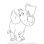 How to Draw Horton the Elephant from Horton Hears a Who!