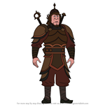 How to Draw Chagatai Khan from How To Train Your Dragon 3