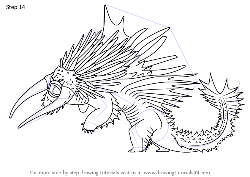 Step By Step How To Draw Drago S Bewilderbeast From How To