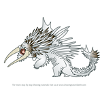 How to Draw Drago's Bewilderbeast from How To Train Your Dragon 3