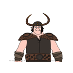How to Draw Spitelout Jorgenson from How To Train Your Dragon 3