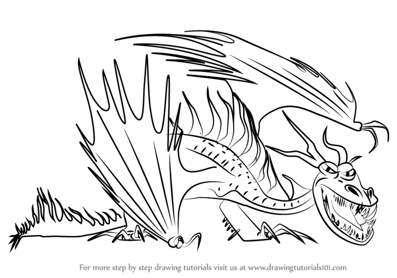 Learn how to draw hookfang from how to train your dragon 2 how to how to draw hookfang from how to train your dragon 2 ccuart Choice Image