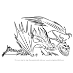 How to Draw Hookfang from How to Train Your Dragon 2