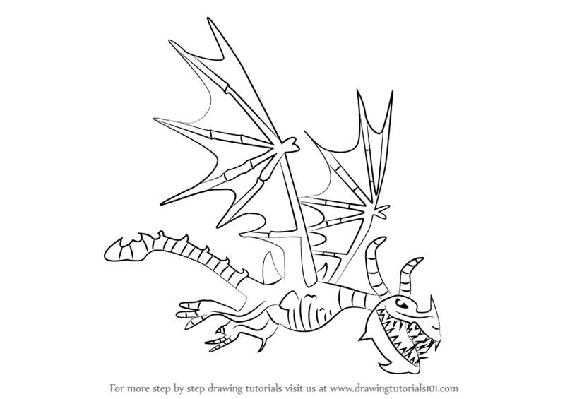 How To Draw Boneknapper From Train Your Dragon