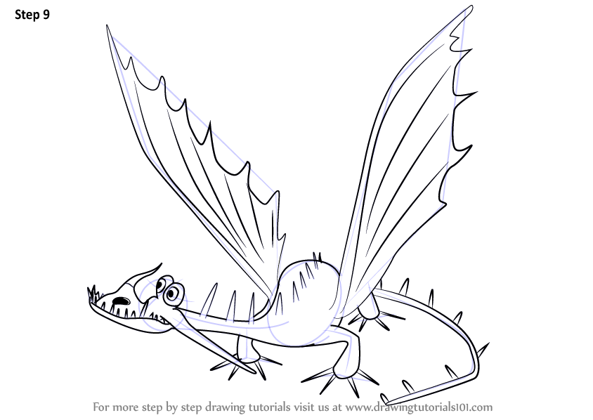 Learn How to Draw Changewing from How to Train Your Dragon