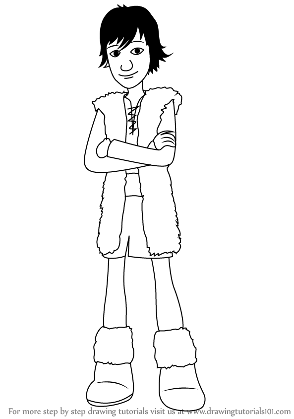 Learn How to Draw Hiccup from How to Train Your Dragon How to