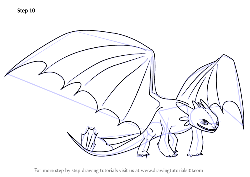 Learn how to draw night fury from how to train your dragon how to shop related products ccuart Choice Image
