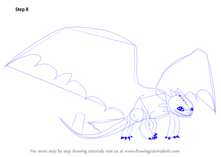Learn How to Draw Night Fury from How to Train Your Dragon ...