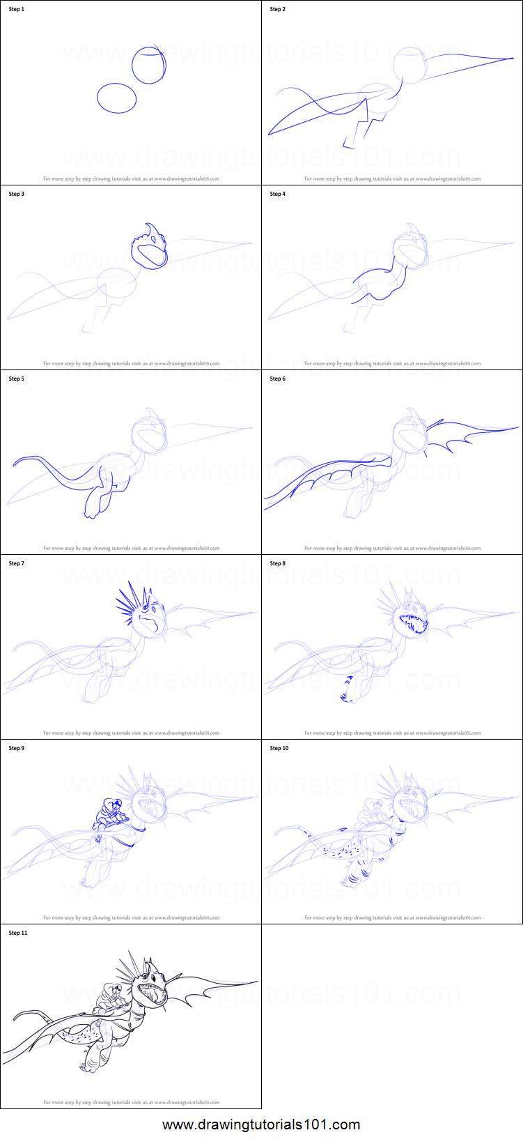 how to draw stormfly from how to train your dragon printable step