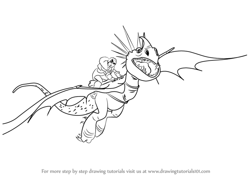 Learn How to Draw Stormfly from How to Train Your Dragon How to