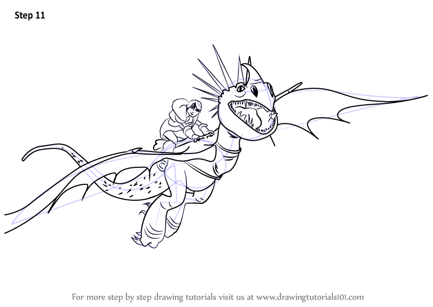 Learn How to Draw Stormfly from How to Train Your Dragon