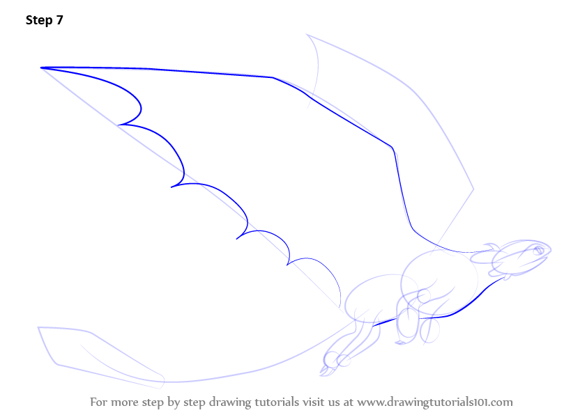 Learn How To Draw Toothless Flying From How To Train Your Dragon