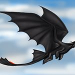 How to Draw Toothless Flying from How to Train Your Dragon
