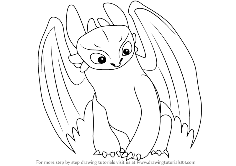 Learn How To Draw Toothless From How To Train Your Dragon How To