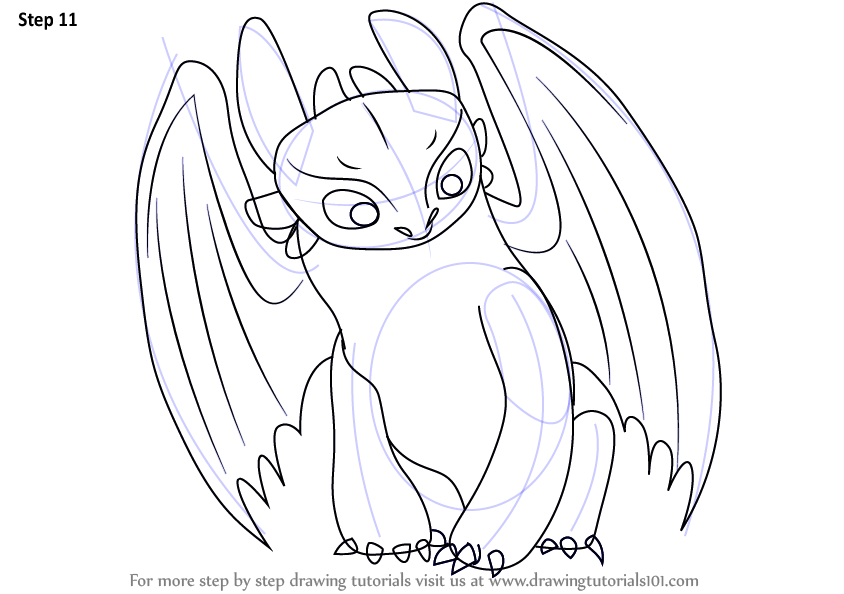 learn how to draw toothless from how to train your dragon how to train your dragon step by step drawing tutorials
