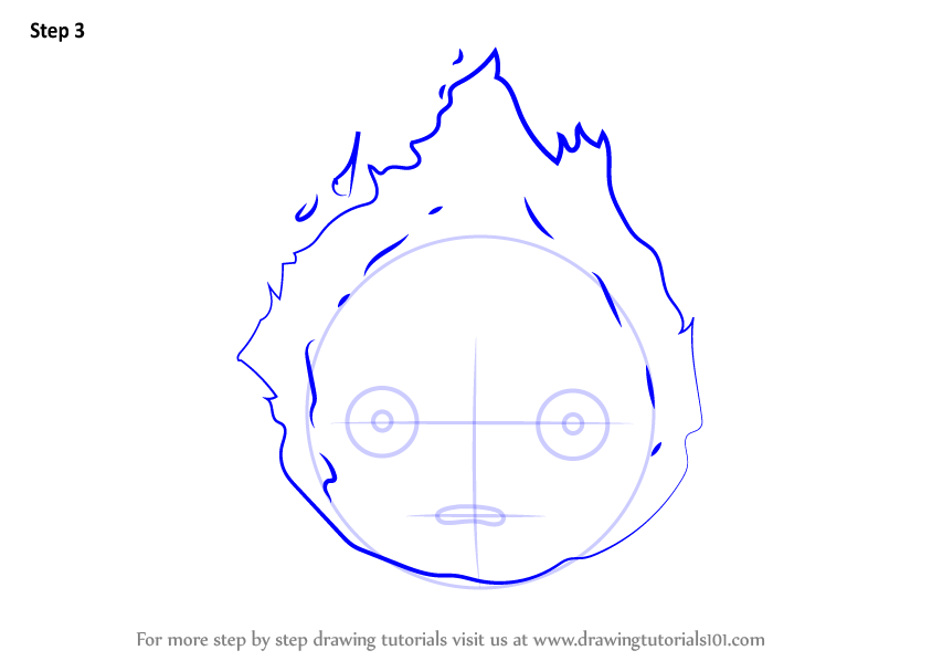 howl s moving castle coloring pages - learn how to draw calcifer from howl 39 s moving castle howl