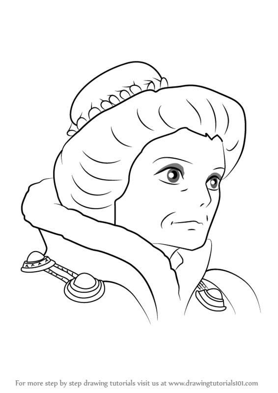 Learn How to Draw Madame Suliman from Howl 39 s Moving Castle