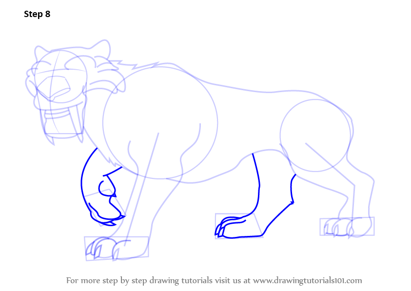 learn how to draw diego from ice age