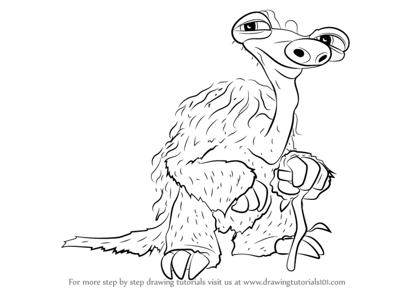 how to draw a sloth step by step easy