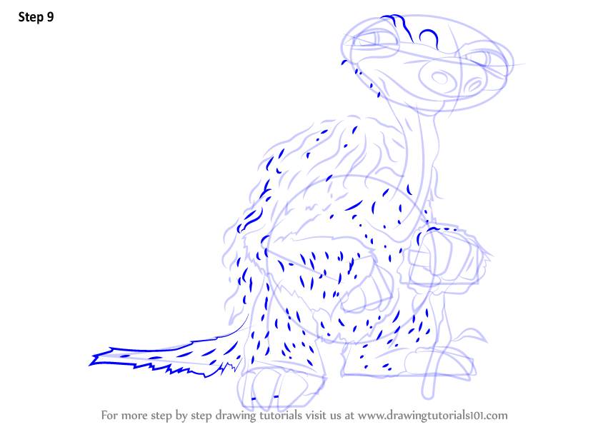 how to draw a cartoon sloth step by step