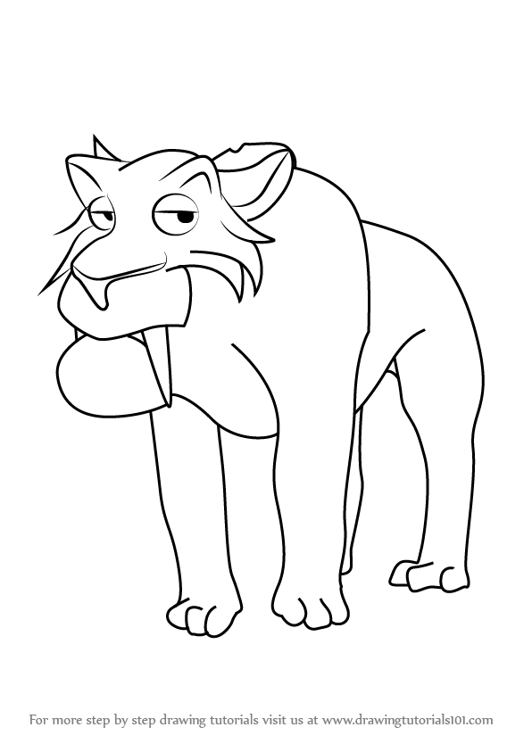 Learn How To Draw Oscar From Ice Age Ice Age Step By