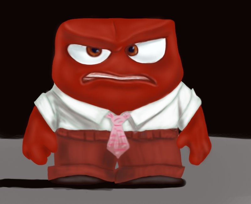 Learn How to Draw Anger from Inside Out (Inside Out) Step by
