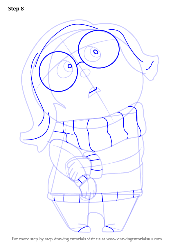 Learn How To Draw Sadness From Inside Out Inside Out Step By Step