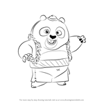 How to Draw Bao from Kung Fu Panda 3