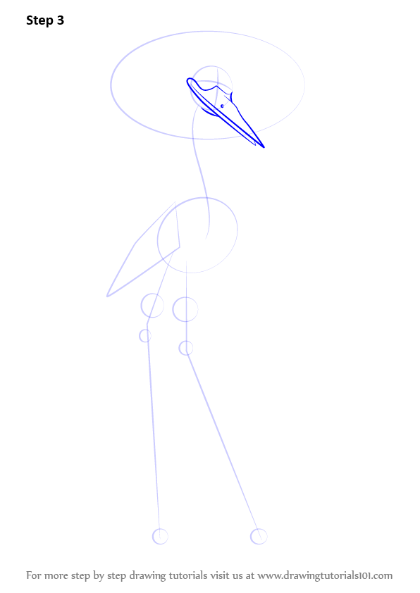 Learn how to draw crane from kung fu panda 3 kung fu for How to draw a crane step by step