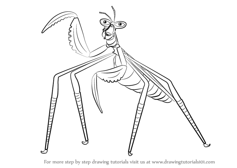 Learn How To Draw Mantis From Kung Fu Panda 3 Kung Fu Panda 3 Step By Step Drawing Tutorials