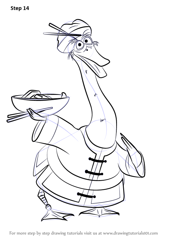 learn how to draw mr ping from kung fu panda 3 kung fu