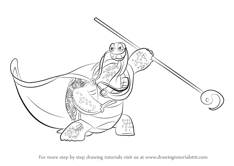 Learn How To Draw Oogway From Kung Fu Panda 3 Kung Fu