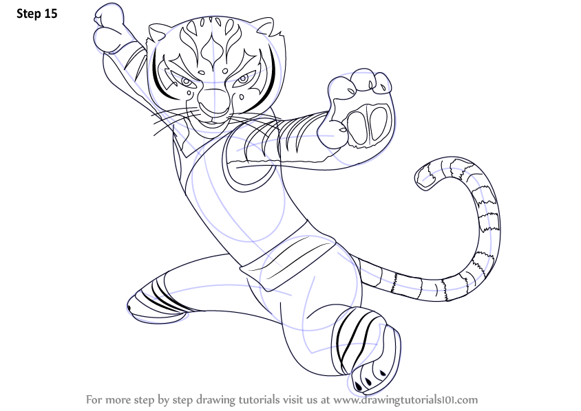 Learn How To Draw Tigress From Kung Fu Panda 3 Kung Fu