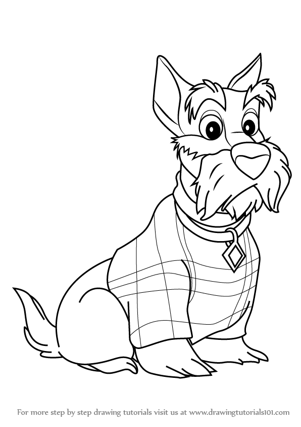 Learn How To Draw Jock From Lady And The Tramp Lady And The Tramp Step By Step Drawing Tutorials