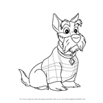 How to Draw Jock from Lady and the Tramp