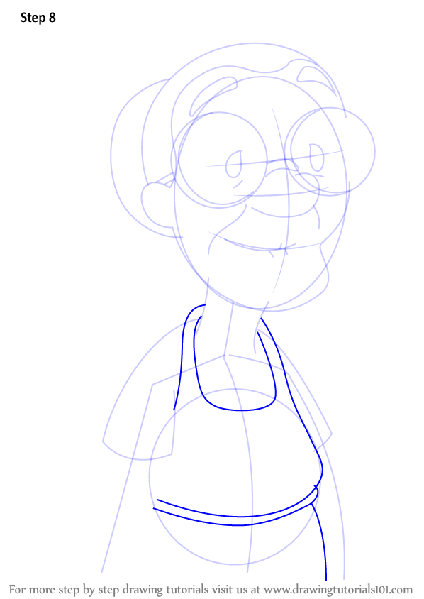 learn how to draw mrs  hasagawa from lilo and stitch  lilo
