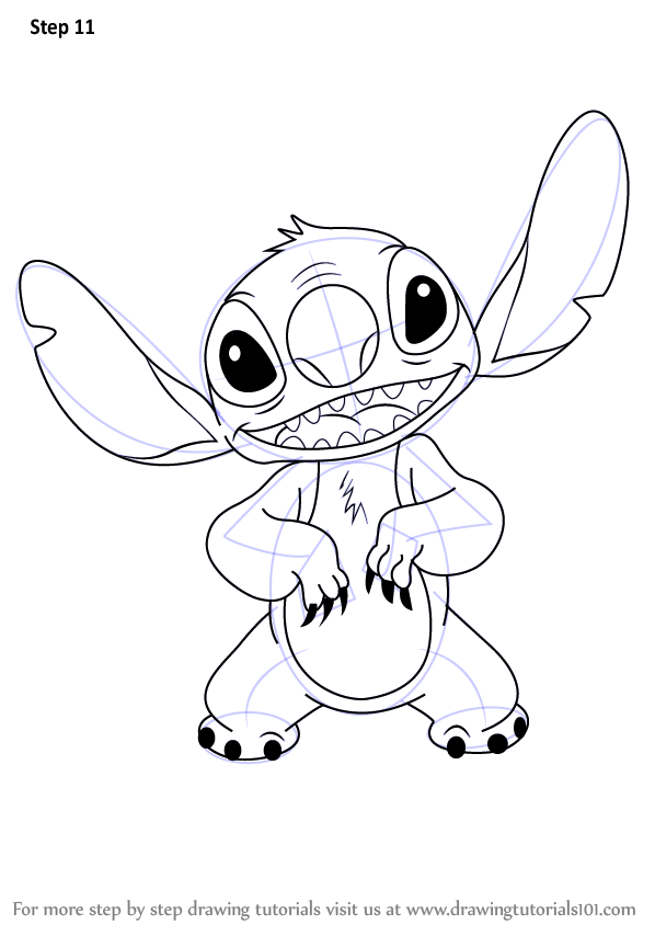 Learn How To Draw Stitch From Lilo And Stitch Lilo Stitch Step By Step Drawing Tutorials