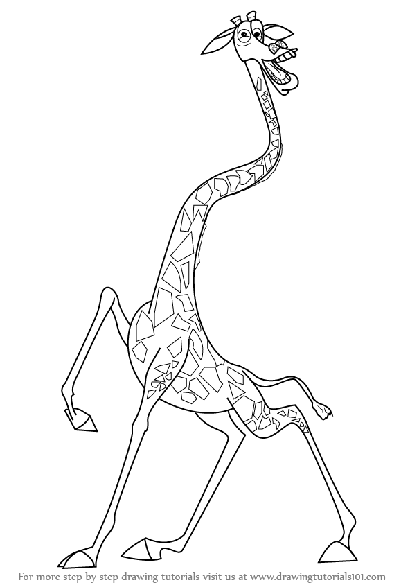 how to draw melman the giraffe from madagascar