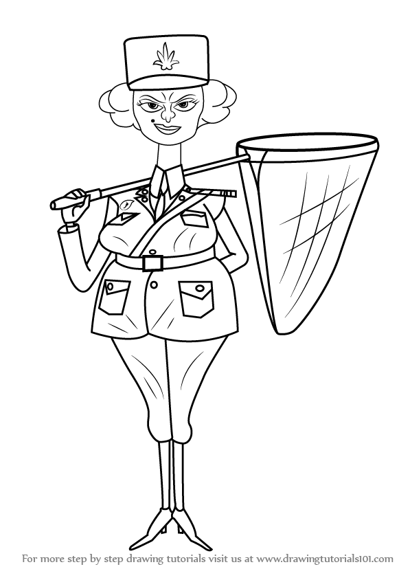 Learn How To Draw Police Officer From Madagascar