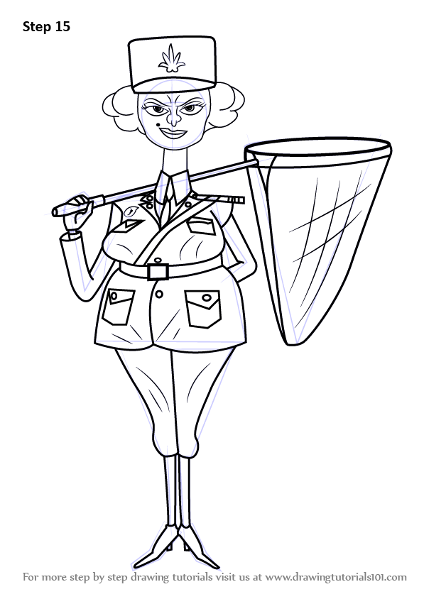 Learn How To Draw Police Officer From Madagascar Madagascar Step