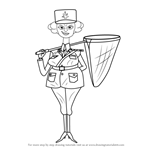 How to Draw Police Officer from Madagascar