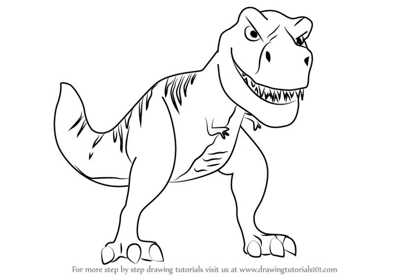 Learn How To Draw Tiny The T Rex From Meet The Robinsons Meet The